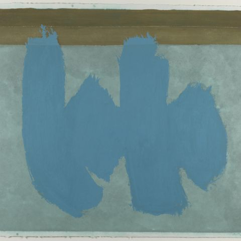 Robert Motherwell, Blue Elegy, 1987, Gift of the Dedalus Foundation and the John Lambert Fund