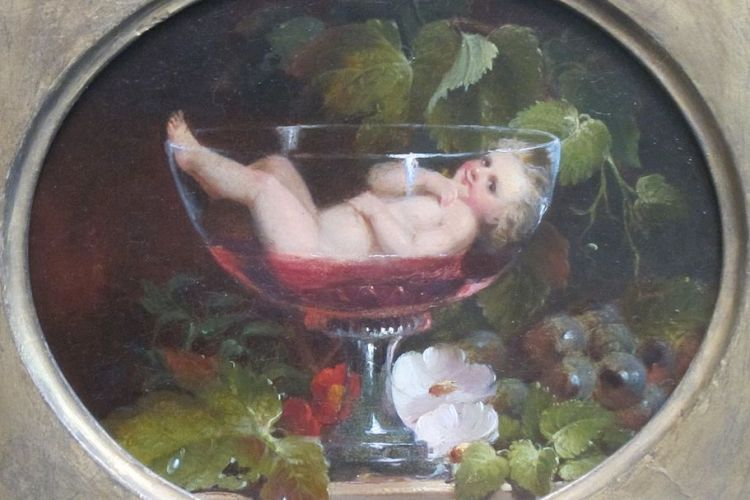 Cupid in Wine by Woodside 1840