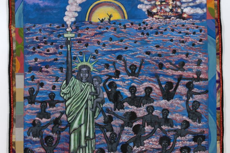 "We Came to America, from the series; ""The American Collection"" Faith Ringgold, 1997"