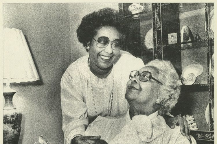 Dr. Constance Clayton and her mother, Williabell Clayton