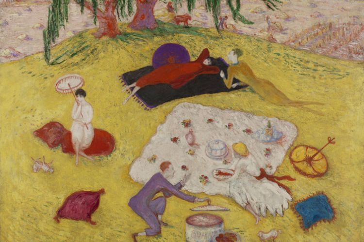 Painting of Picnic at Bedford Hills by Florine Stettheimer