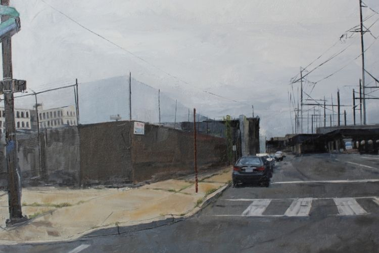 "Shushana Rucker, ""Open Space,"" oil on panel, 12 x 16 in."