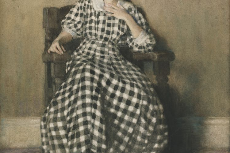 Hilda Belcher (American, 1881–1963),The Checkered Dress (Portrait of O'Keeffe), 1907